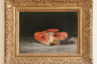 saumon Goya avec cadre