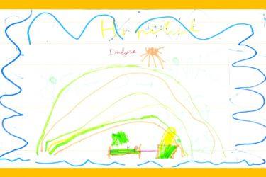 dessin d'un enfant représentant l'hôpital de pédiatrie
