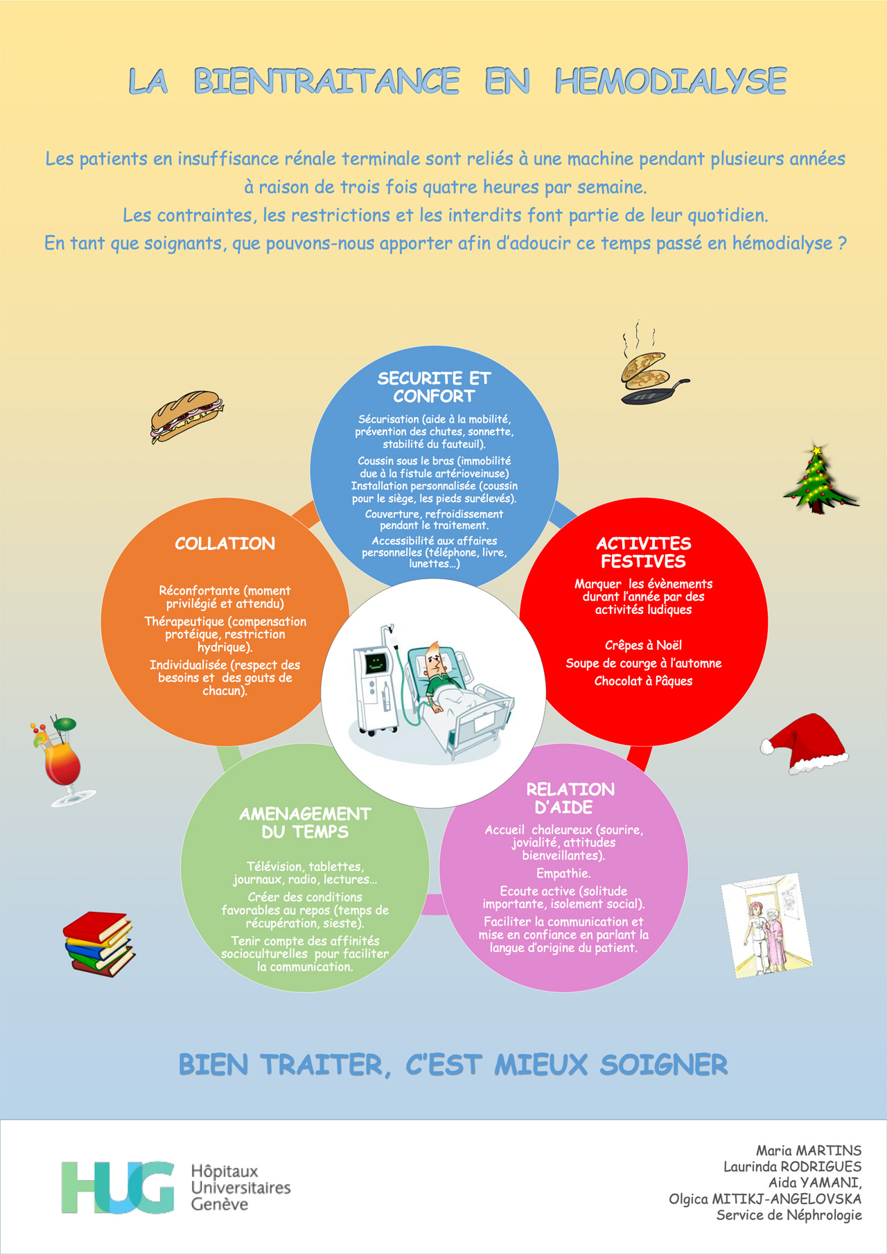 Poster de la néphrologie sur la bientraitance