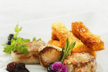 filet sanglier myrtilles polenta