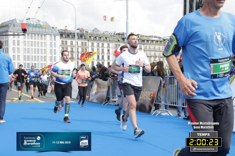 Muamar lors du semi-marathon